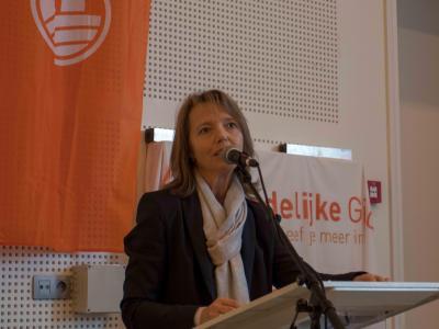 Voorzitter Sonja de Becker
